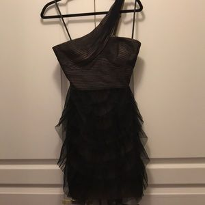 BCBG black ruffle dress